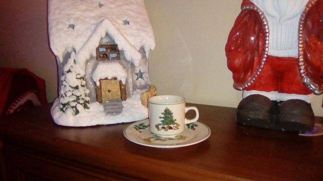 Kubki talerzyki zestaw świąteczny bożonarodzeniowy UNIKAT