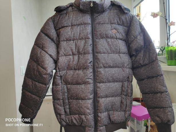 Новая Очень теплая  зимняя фирменная куртка Lee Cooper! Англия.
