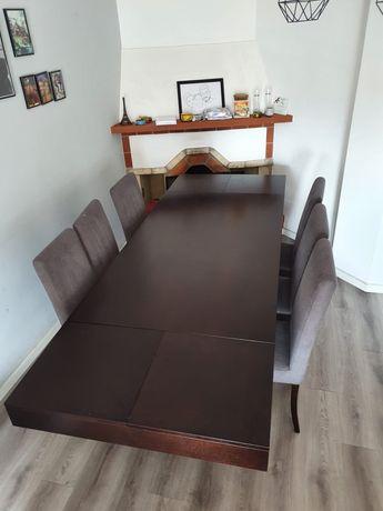 Mesa de madeira carvalho extensível