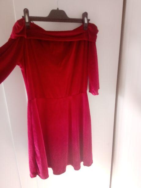 Vestido de veludo vermelho