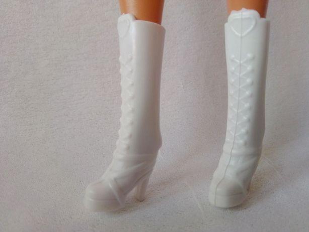 Ubranka dla lalki barbie - białe kozaczki !!!