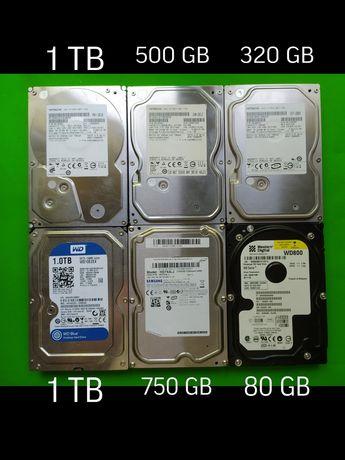 HDD жесткий диск Western digital Hitachi Samsung все рабочие