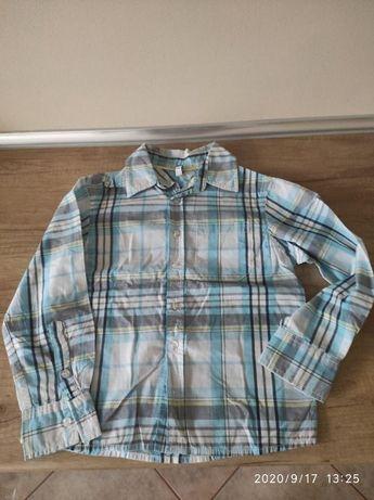 Koszula 5/10/15 r.122 cm, kamizelka, koszulka