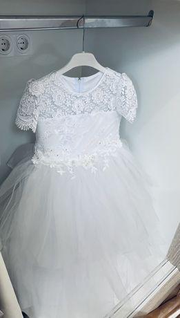 Платье снежинки размер 122-134