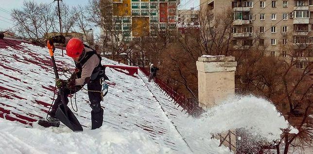 Очистка крыш от снега. Промышленный альпинизм