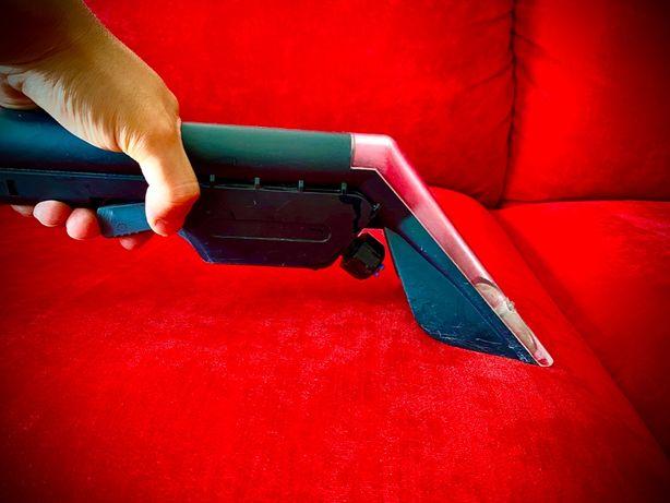 PRANIE CZYSZCZENIE TAPICERKI dywanów wykładzin kanap narożników skór