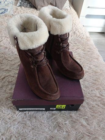 Ботинки зима ,замшевые .
