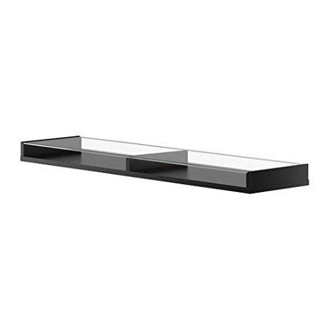 Ikea półka gablotka Ekby Gruvan 79x19cm NOWA w pudełku, czarna, szkło