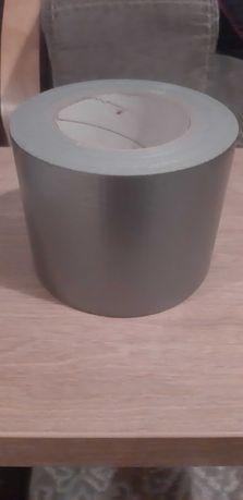 Szeroka bardzo mocna taśma tekstylna 100 mm x 50m srebrna