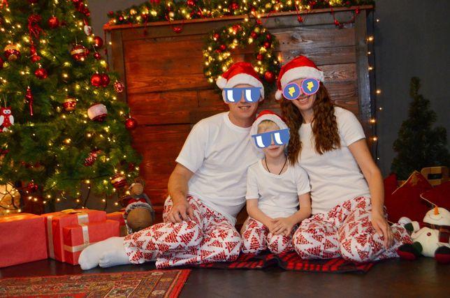 Новогодние пижамы для семьи family look