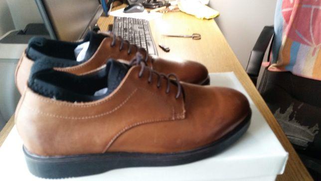 Sapatos Ask the Missus em pele castanhos Size UK 6 (EU 40)