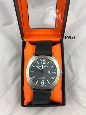 Czarny zegarek Superdry