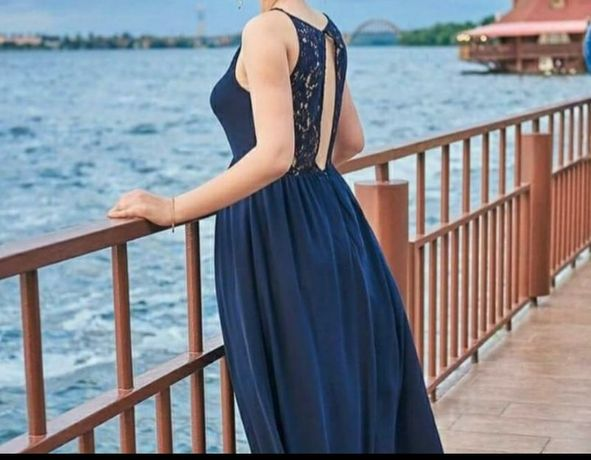 Шикарное вечернее платье в пол H&M