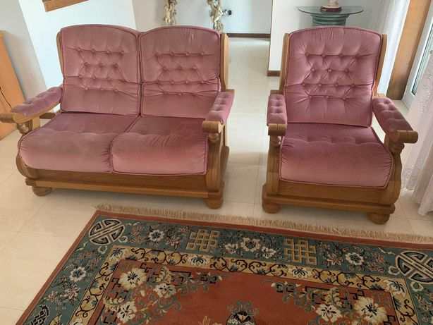 Conjunto de sofás cor - de - rosa