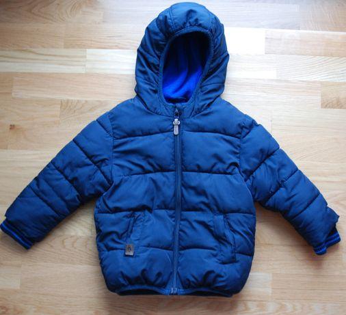 NEXT granatowa, zimowa kurtka dla chłopca, synka 92; 1,5-2 latka