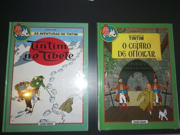 NOVOS e SELADOS - Álbuns Duplos Coleção Aventuras de Tintim de Hergé