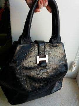 Кожаная сумочка .