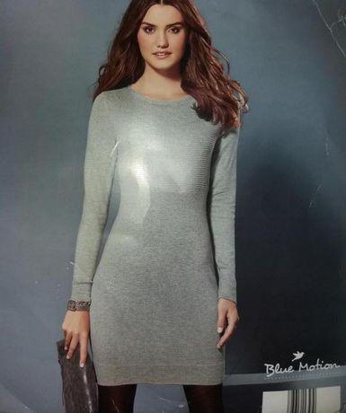 Шикарное базовое теплое платье миди р. S М L