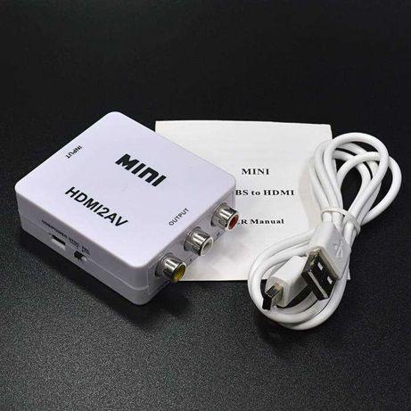 aparelho para ligar pc á tv hdmi para rca
