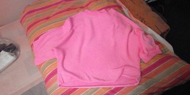 Sweter sweterek Zara knit różowy luźny rozmiar M