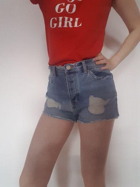 Krótkie spodenki jeansowe S