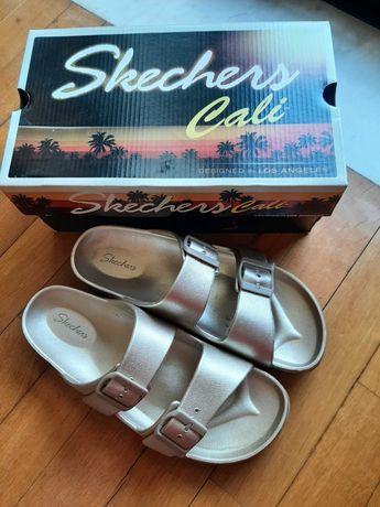 Sandálias Skechers douradas originais tam. 37 - calça 38