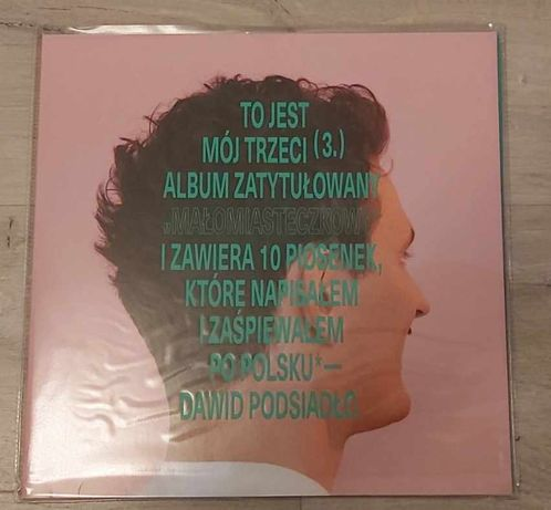 Dawid Podsiadło - Małomiasteczkowy Winyl LP (biały winyl)