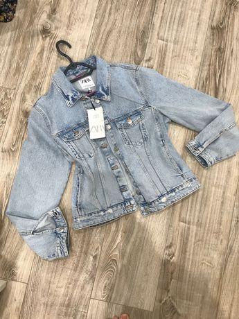 Kurtka katana jeansowa Zara