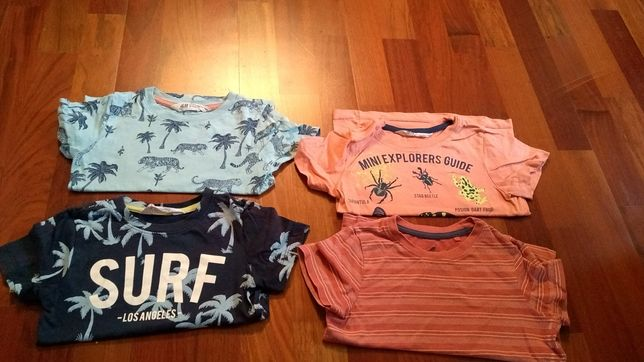 H&M koszulki krótki rękaw wiosna lato 98 cm