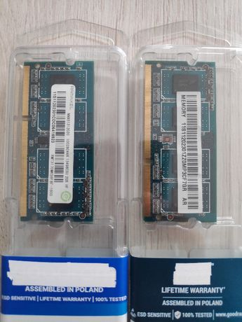 Pamięć ram do laptopa, DDR3 2szt. - 2GB 1600Mhz