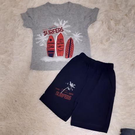 Костюм футболка и шорты на 2-3года новое