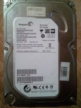 Продам жесткий диск Seagate на 500 гигабайт