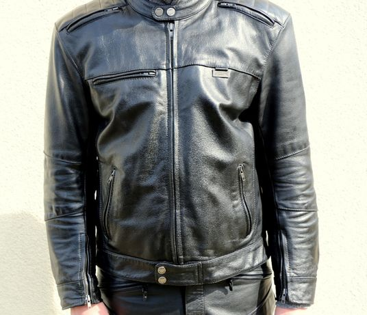 Skórzana kurtka i spodnie motocyklowe, komplet Monster marki 4SR