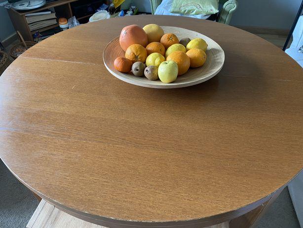 Stół okrągły śr. 115 cm, rozkładany
