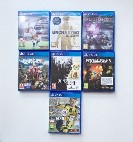 Zestaw 7 Gier PS4 Play Station 4 Fifa Minecraft Dying Light Gry