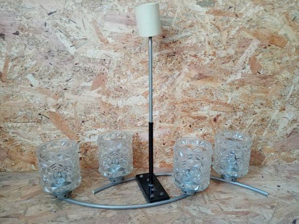 Żyrandol lampa sufitowa PRL