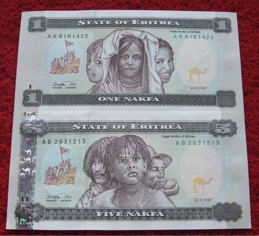 ERYTREA Kolekcjonerskie Banknoty - 2 sztuki UNC