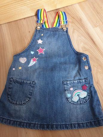 Sukienka jeansowa ogrodniczka