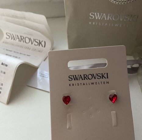 Новые серьги с кристалами Swarovski оригинал камни сваровски