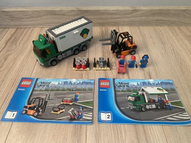 Lego City 60020 ciężarówka cargo z wózkiem widłowym