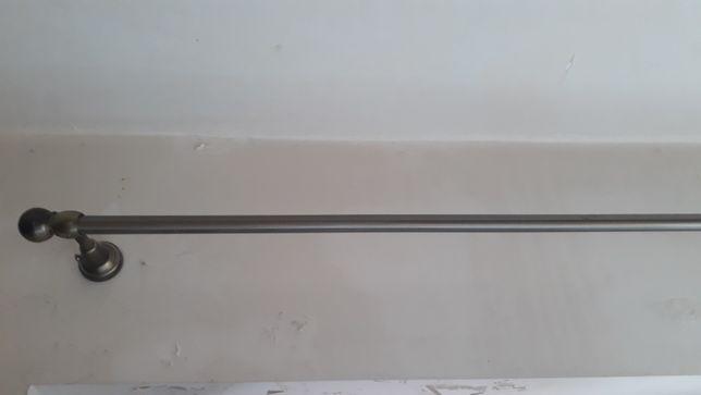 Karnisz metalowy, stare złoto 150 cm