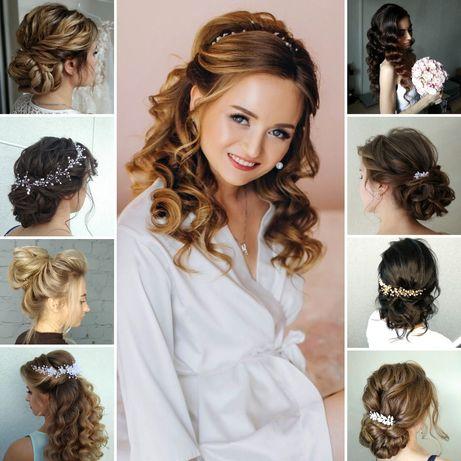Свадебная прическа, детская, плетение кос, вечерняя прическа зачіски