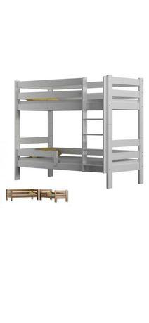 Łóżko piętrowe, białe NOWE