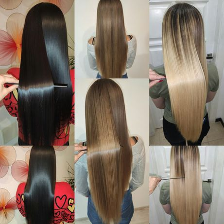 Кератин Кератиновое выпрямление выравнивание ботокс нанопластика волос