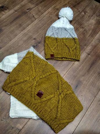 Комплект шапка + шарф хомут buff