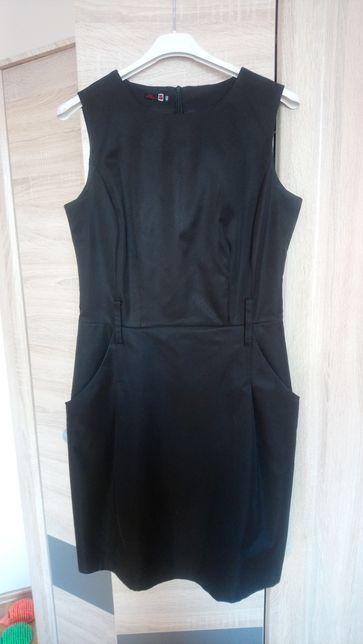 Czarna elegancka sukienka na ramiączka rozmiar 40