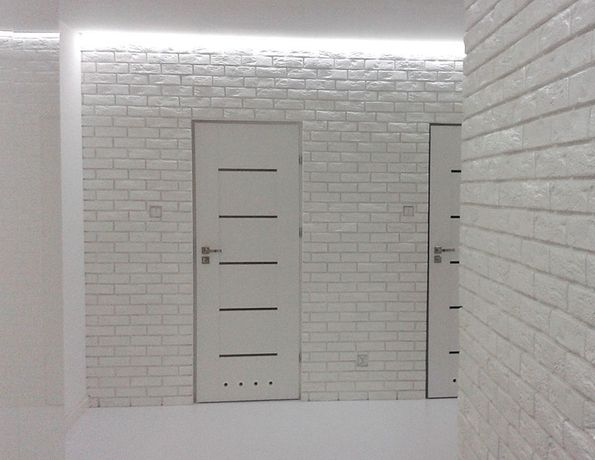Biała Cegła z fuga dekoracyjna z fugą HIT gipsowa kamień