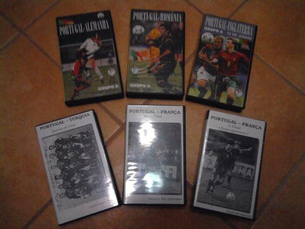 Cassetes VHS Euro 2000 - Jogos de Portugal