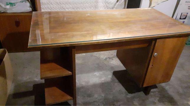 Biurko drewniane PRL modern loft lata 60