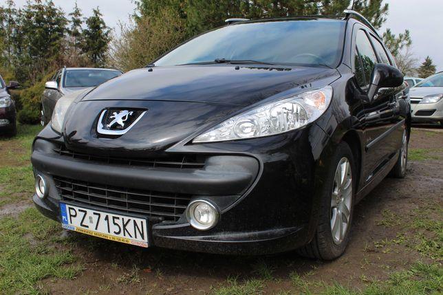 Peugeot 207 SW 1.4 Benzyna Klimatyzacja Panorama Alu felgi 2 Kpl. Opon